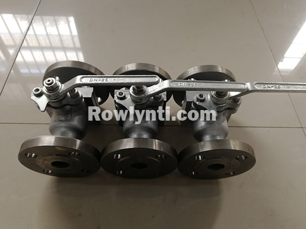 Manual Flange Connection To DN25 Floating Titanium Ball Valve